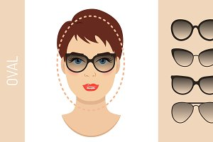 Sunglasses shapes for oval face