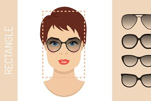 Sunglasses shapes for rectangle face