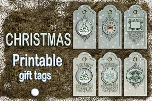 Christmas printable gift tags snow
