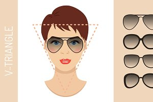 Sunglasses shapes for triangle face