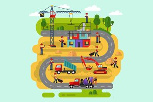 Construction Process Vector
