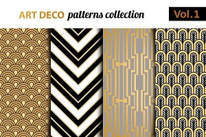 Art Deco vector patterns set 1