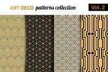 Art Deco vector patterns set 2