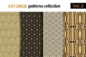 Art Deco vector patterns set 2