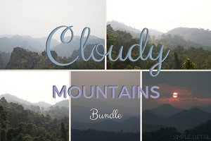 Bundle of 5: Cloudy Mountains