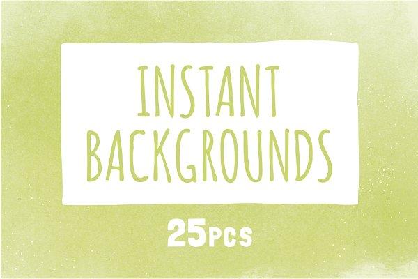 25 instant backgrounds (.jpg)