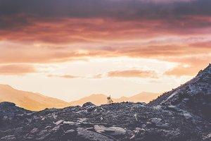 Sunset Mountains Landscape Travel