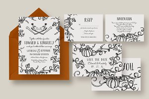 Halloween Pumpkin Wedding Suite