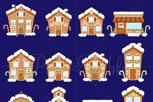 Gingerbread House Clipart & Vectors