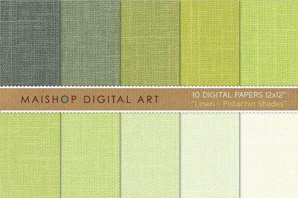 Digital Paper-Linen-Pistachio Shade…