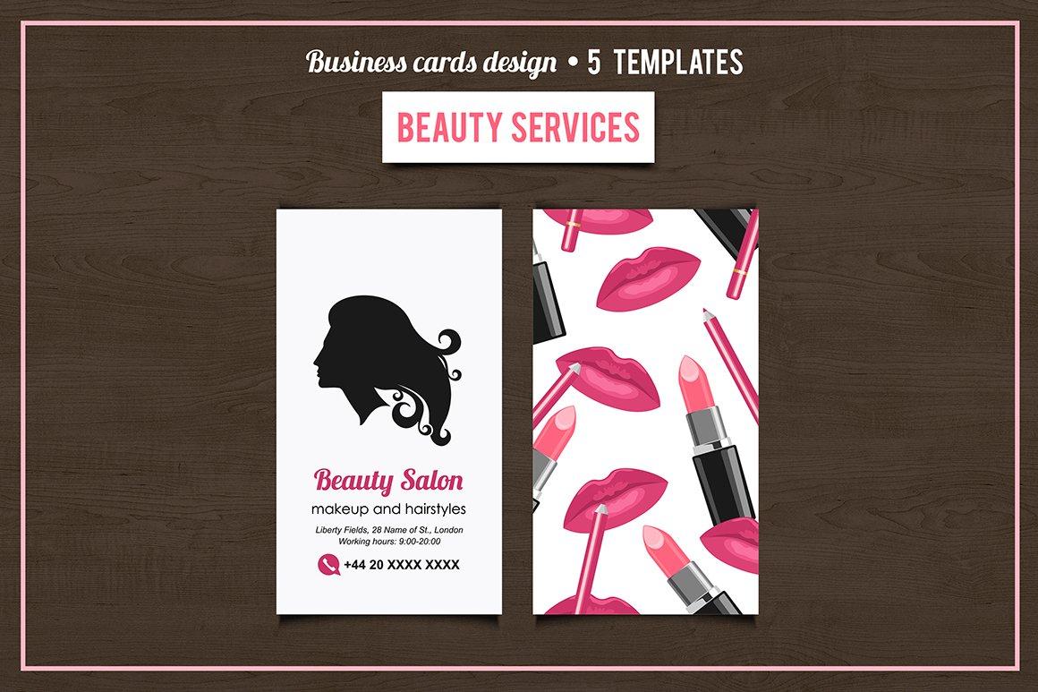 Beauty Salon Services Cards Design Business Card