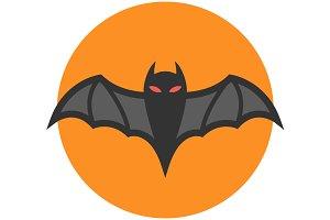 Bat icon flat