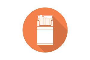 Cigarette pack icon. Vector