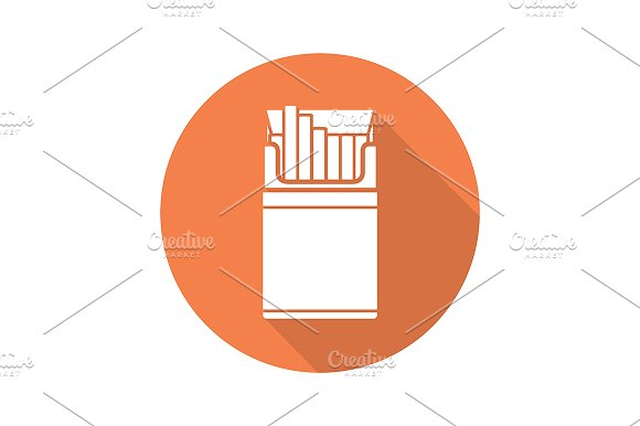 Cigarette pack icon. Vector - Icons