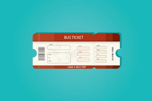 illustration of bus ticket