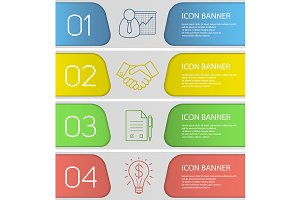 Business banner template set. Vector