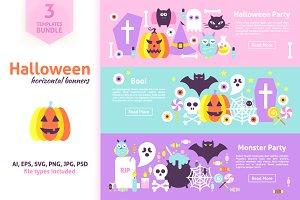 Halloween Horizontal Web Banners