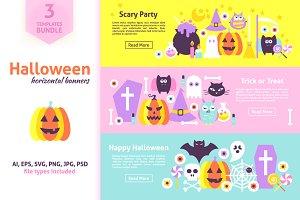 Halloween Horizontal Website Banners