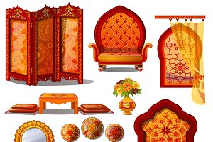 Luxury furniture in Oriental style