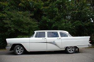 a white luxury limousine