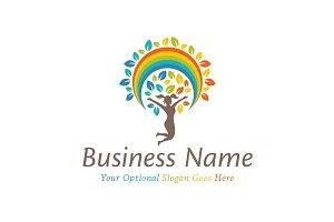Rainbow Tree of Joy Logo