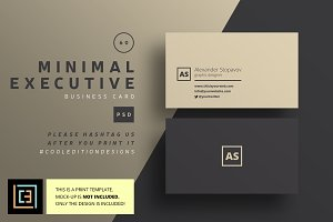 Minimal Executive - Business Card 60