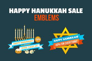 Hanukkah Sale Emblem Set