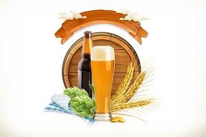 Beer Festival, 3d vector logo