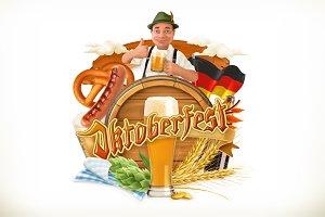 Beer Festival Oktoberfest, vector