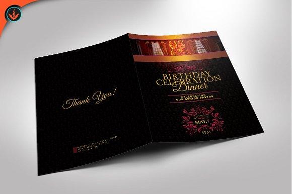 royal birthday celebration program brochure templates creative