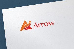 """10% OFF""  Arrow Logo Template"