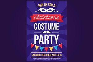 Christmas costume party invitation