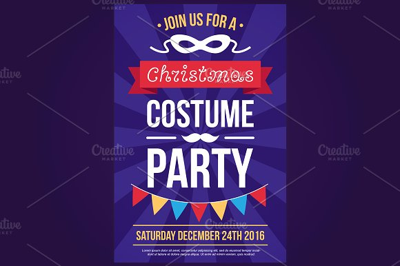 Christmas Costume Party Invitation Invitation Templates Creative