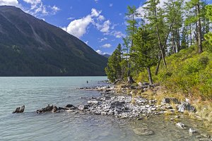 Kucherla lake. Altai Mountains