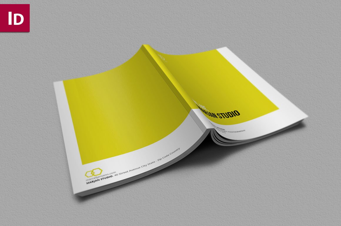 Indesign brochure portfolio brochure templates creative market for Free indesign portfolio templates
