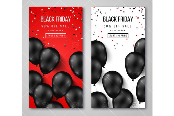 Black Friday Vertical Banners