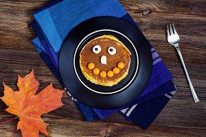 Cute halloween pancake for kids