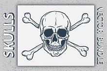 Vector Skulls with Crossbones Set