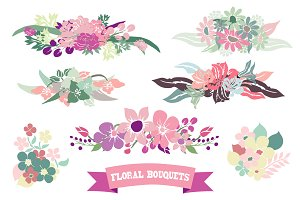 Floral Bouquets Set(1)