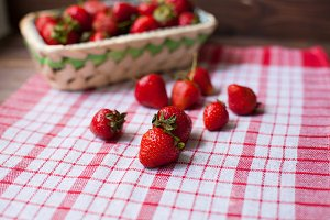Sweet ripe strawberries