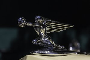 Winged Woman Hood Ornament