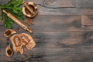 Christmas cookies baking tools