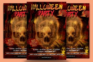 Halloween Skull Flyer Template