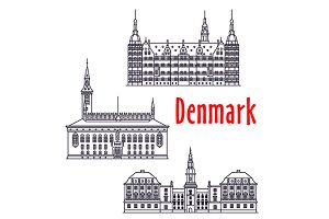 Symbolic travel landmarks of Denmark