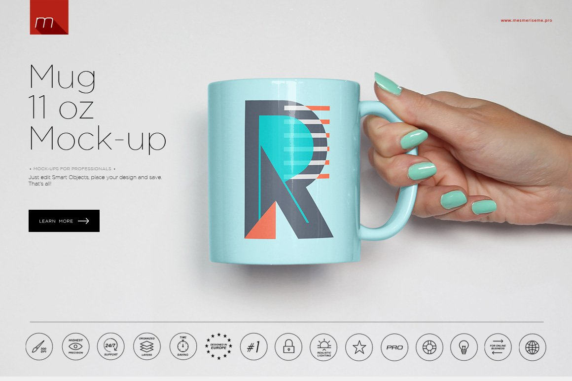 Mug 11 oz Mock-up - Product Mockups