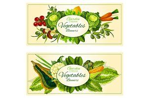 Healthy farm vegetables and fruits