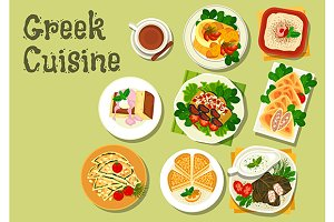 Greek cuisine lunch dishes