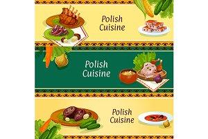 Polish cuisine menu banners