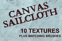 Canvas Sailcloth Textures & Brushes