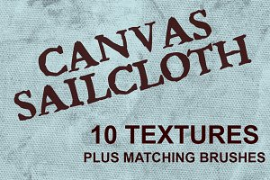 Canvas Sailcloth Textures & Brushes